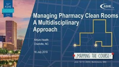 image: Managing Pharmacy Clean Rooms – A Multidisciplinary Approach