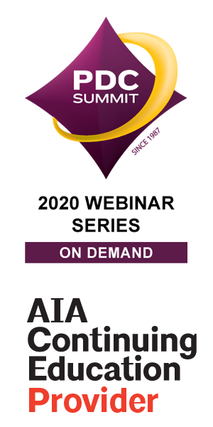 PDC Webinar and AIA Continuing Provider logo