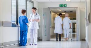 image of doctors in a hallway